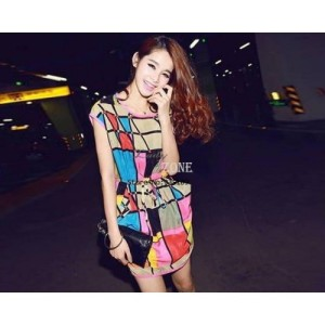 geometric dress momo cloth