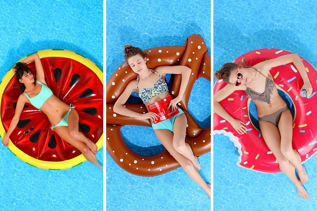 food pool floats