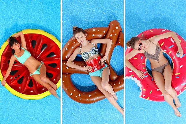 food pool floats