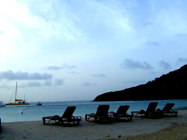 st.martin evening beach
