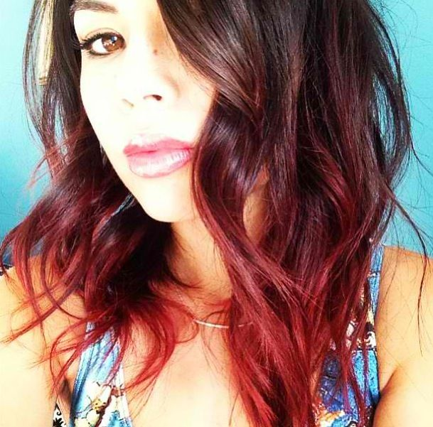 Red Dip Dye Ombre Hairspo Life Is Poetic
